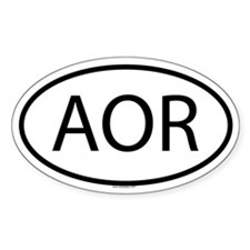 AOR Oval Decal