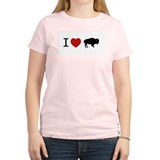 I LOVE BUFFALO Women's Pink T-Shirt