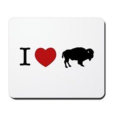 I LOVE BUFFALO Mousepad