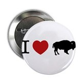 "I LOVE BUFFALO 2.25"" Button (10 pack)"