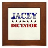 JACEY for dictator Framed Tile