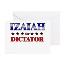 IZAIAH for dictator Greeting Cards (Pk of 10)
