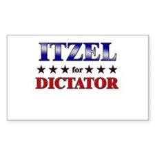 ITZEL for dictator Rectangle Decal