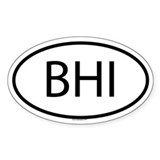 BHI Oval Decal