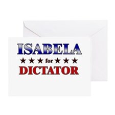 ISABELA for dictator Greeting Card