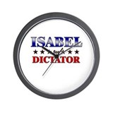 ISABEL for dictator Wall Clock