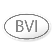 BVI Oval Decal