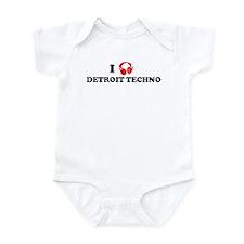 I Love Detroit Techno Infant Bodysuit