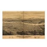 Portland antique map Postcards (Package of 8)