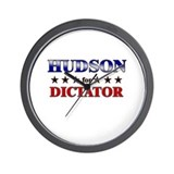 HUDSON for dictator Wall Clock