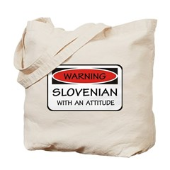 Attitude Slovenian Tote Bag