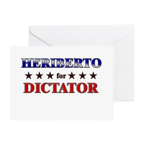 HERIBERTO for dictator Greeting Card