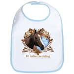 I'd Rather Be Riding Horses Bib