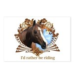 I'd Rather Be Riding Horses Postcards (Package of