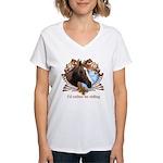 I'd Rather Be Riding Horses Women's V-Neck T-Shirt