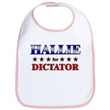 HALLIE for dictator Bib