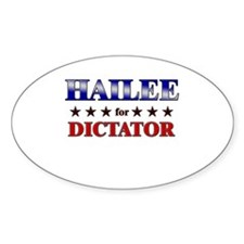 HAILEE for dictator Oval Decal