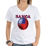 Samoa football team Women's V-Neck T-Shirt