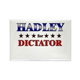 HADLEY for dictator Rectangle Magnet