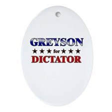 GREYSON for dictator Oval Ornament