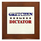 GRETCHEN for dictator Framed Tile