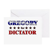 GREGORY for dictator Greeting Card