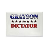 GRAYSON for dictator Rectangle Magnet