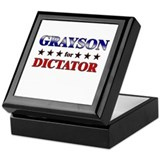GRAYSON for dictator Keepsake Box