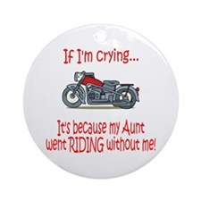 BikerBaby Cry - Aunt Ornament (Round)