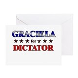 GRACIELA for dictator Greeting Card