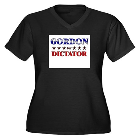 GORDON for dictator Women's Plus Size V-Neck Dark