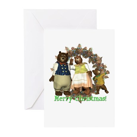 The Three Bears Christmas Cards (Pk of 10)
