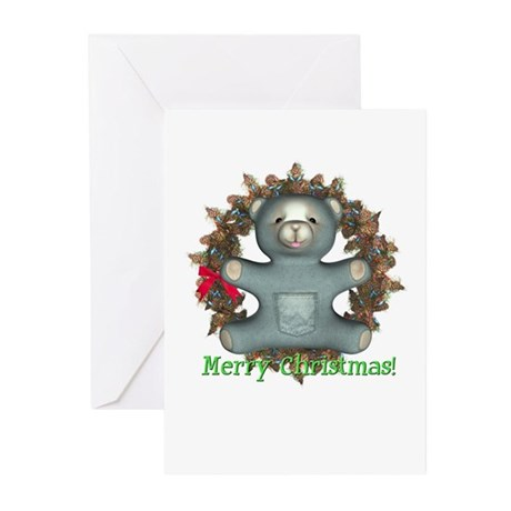 Teddy Bear Christmas Cards (Pk of 10)