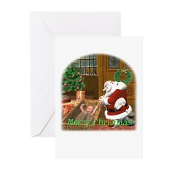 Praying Santa Christmas Cards (Pk of 10)
