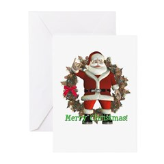 Santa Christmas Cards (Pk of 10)