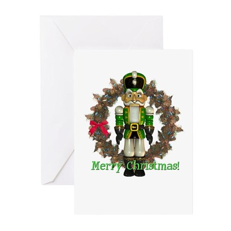 Nutcracker (Green) Christmas Cards (Pk of 10)