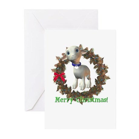 Lamb Christmas Cards (Pk of 10)