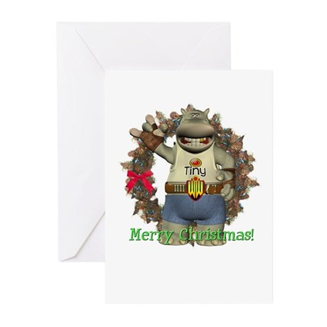 Heath Hippo Christmas Cards (Pk of 10)