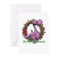 Dusty Dragon Christmas Cards (Pk of 10)