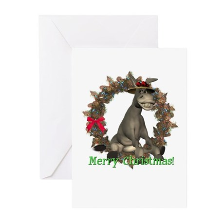 Donkey Christmas Cards (Pk of 10)