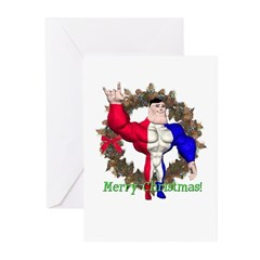 Alpha Man Christmas Cards (Pk of 10)