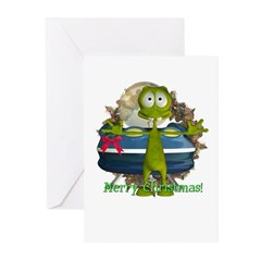 Al Alien Christmas Cards (Pk of 10)
