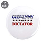 "GIOVANNY for dictator 3.5"" Button (10 pack)"