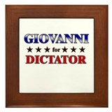GIOVANNI for dictator Framed Tile