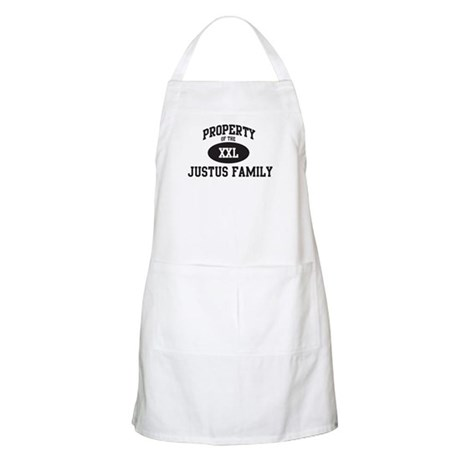 Property of Justus Family BBQ Apron