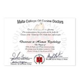 Cute Psychology degree Postcards (Package of 8)