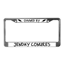 Owned by Jenday Conures License Plate Frame