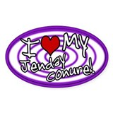 Hypno I Love My Jenday Conure Oval Sticker Purp