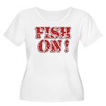 Fish On! Women's Plus Size Scoop Neck T-Shirt