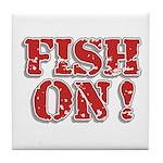 Fish On! Tile Coaster